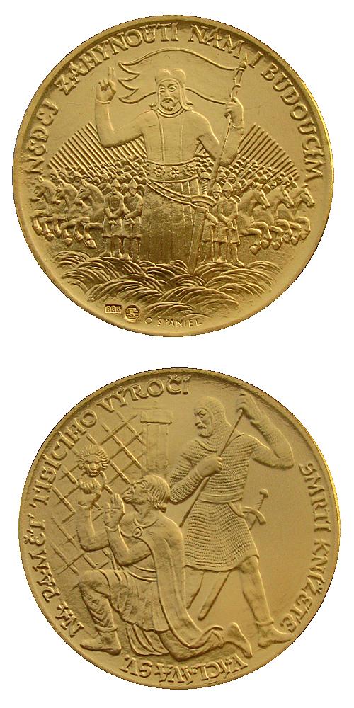 2017_Zavrazdeni_sv.Vaclava_Au_medaile