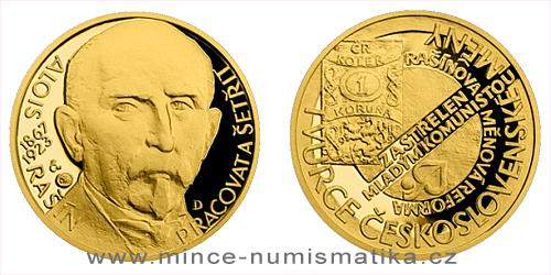 Zlatý dukát Národní hrdinové - Alois Rašín
