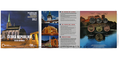 Sada oběžných mincí ČR 2017 - Česká republika