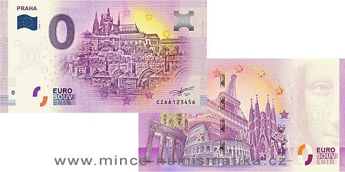 2018 - Česká republika - 0 Euro souvenir Praha UNC