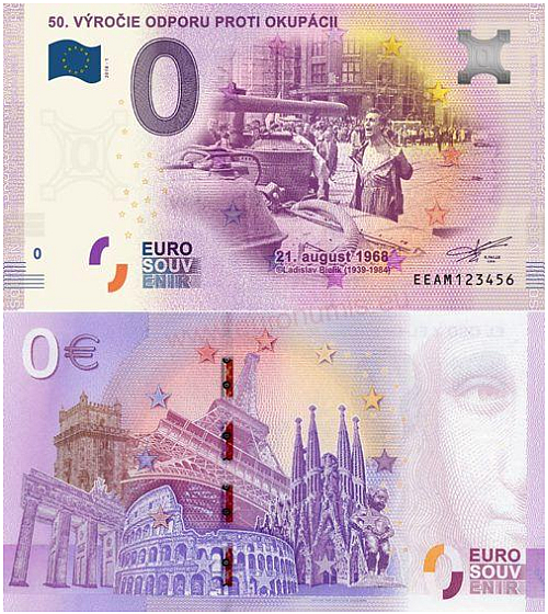2018_0_euro_souvenir_Vyroci_okupace_bankovka