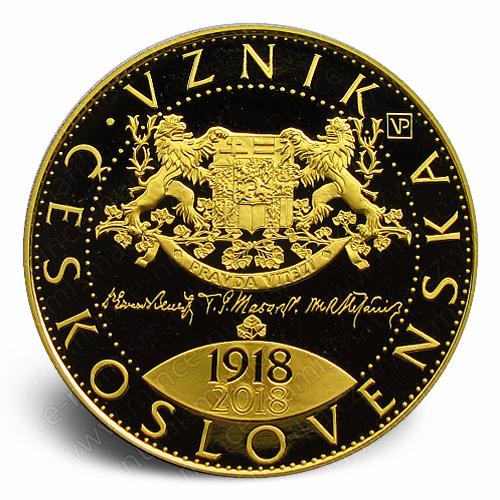 2018_10000_Kc_Vznik_Ceskoslovenska_Au_mince_pp_r