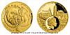 Zlatá dvouuncová mince 100 NZD Rudolf II. Habsburský a Magistr Kelley