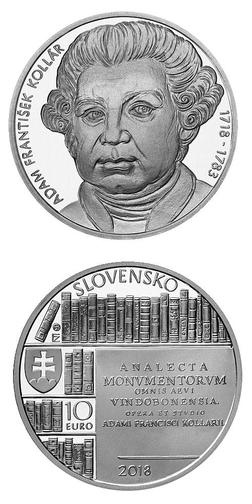 2018_10_euro_Adam_Frantisek_Kollar_Ag_mince_proof