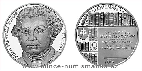 10 € - 300. výročie narodenia - Adam František Kollár