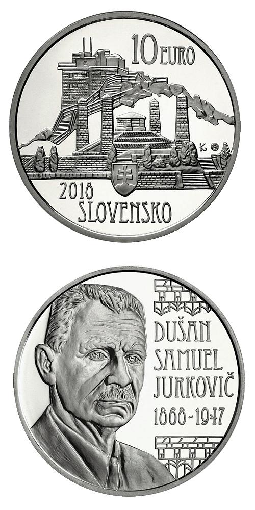 2018_10_euro_Dusan_Samuel_Jurkovic_Ag_mince_proof