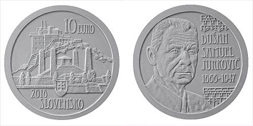 10 € - 150. výročie narodenia - Dušan Samuel Jurkovič