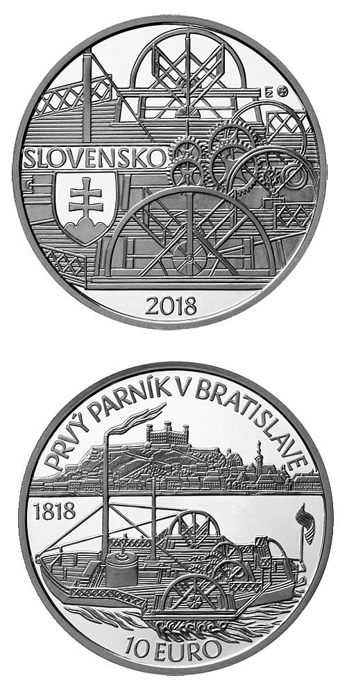 2018_10_euro_Prvy_parnik_v_Bratislave_Ag_mince_proof