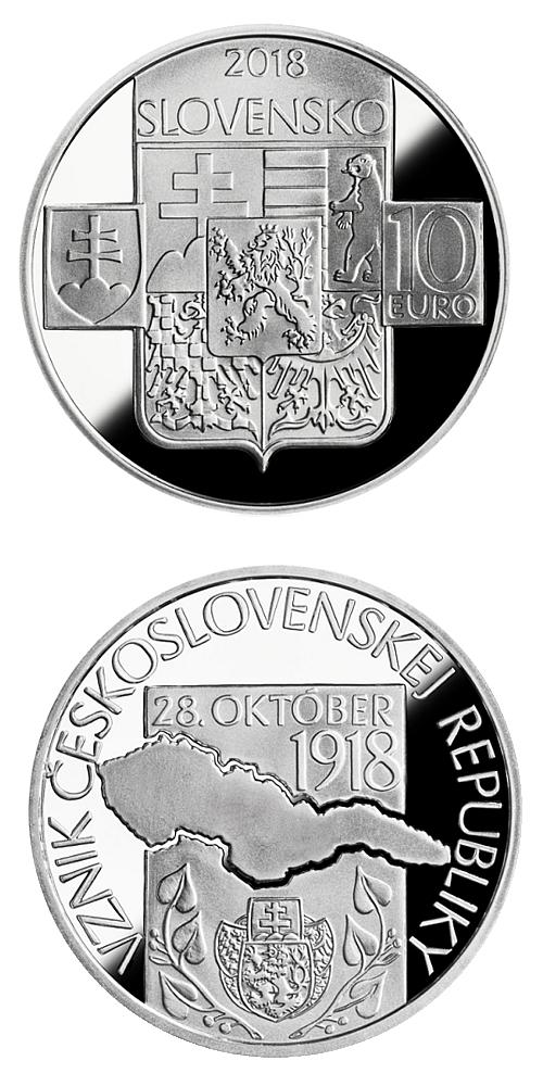2018_10_euro_Vznik_Ceskoslovenska_Ag_mince_proof