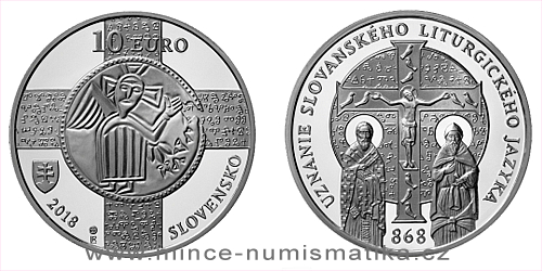 10 € - 1150. výročie - Uznanie slovanského liturgického jazyka
