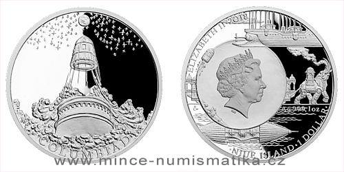 Stříbrná mince Fantastický svět Julese Verna - Měsíční dělo Kolumbiad