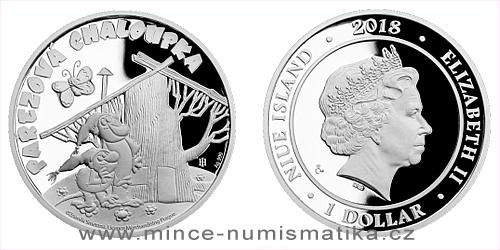 Stříbrná mince Pohádky z mechu a kapradí - Pařezová chaloupka