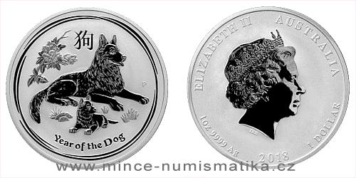 2018 - 1 dollar - Year of the Dog Ag (Australia Lunar II.)