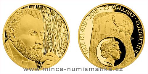 Zlatá půluncová mince Gustav Klimt