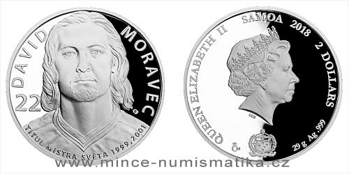 Stříbrná mince Legendy čs. hokeje - David Moravec