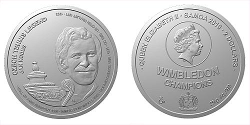 Stříbrná mince České tenisové legendy - Jan Kodeš