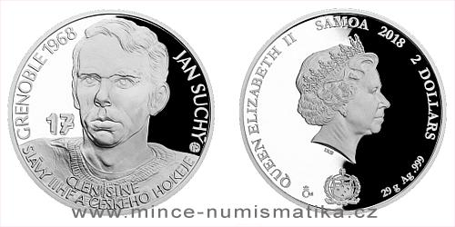 Stříbrná mince Legendy čs. hokeje - Jan Suchý