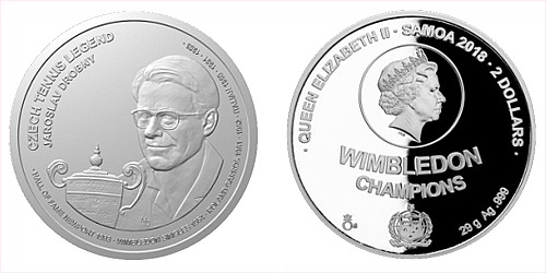 Stříbrná mince České tenisové legendy - Jaroslav Drobný