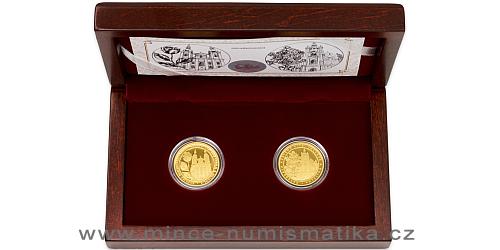 Sada dvou zlatých mincí Zlatá růže od papeže