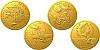 Sada tří zlatých mincí 100 let od konce první světové války