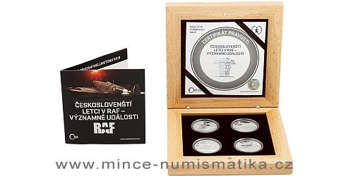 Sada čtyř stříbrných mincí 4x 1 NZD Českoslovenští letci v RAF – Významné události