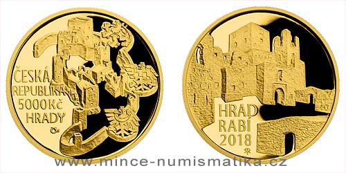 5000 Kč - hrad Rabí 2018
