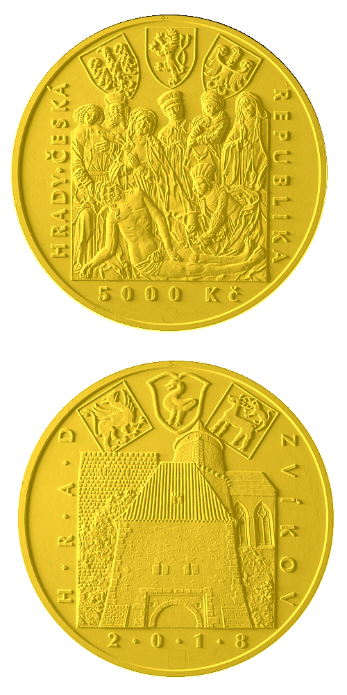 2018_5000_Kc_hrad_Zvikov_Au_navrh_mince