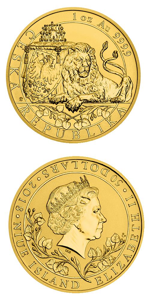 2018_50_NZD_Cesky_lev_Au_1_Oz_reverse_proof_mince