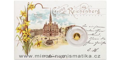 Zlatá mince Liberec - Liberecká radnice