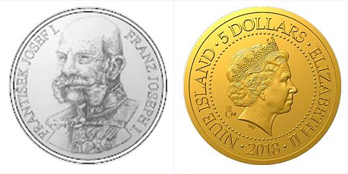 Zlatá mince František Josef I.