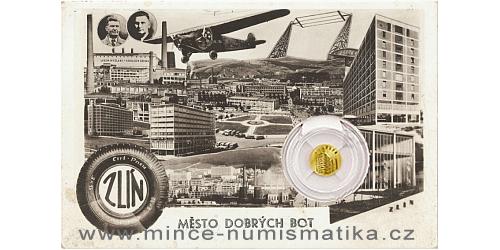 Zlatá mince Zlín - Baťův mrakodrap