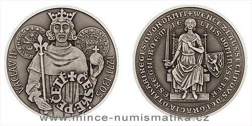 Stříbrná medaile České pečetě - Václav II.