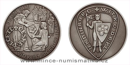 Stříbrná medaile České pečetě - Vítek III. z Prčice a Plankenberka