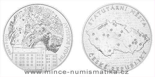 Stříbrná kilogramová medaile Statutární město Mladá Boleslav
