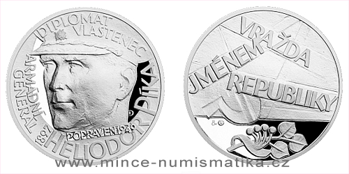Stříbrná medaile Národní hrdinové - Heliodor Píka