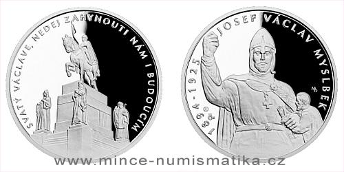 Stříbrná medaile Příběhy naší historie - Svatý Václav