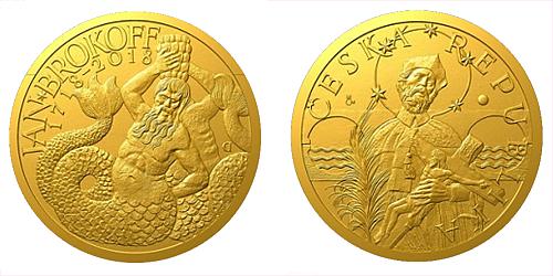 Zlatá půluncová medaile Jan Brokoff