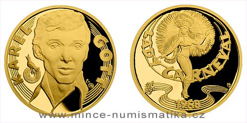 Zlatá půluncová medaile Karel Gott - Zpěvák