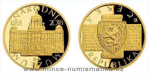 Zlatá půluncová medaile Založení Národního muzea