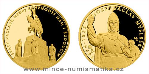 Zlatá čtvrtuncová medaile Příběhy naší historie - Svatý Václav