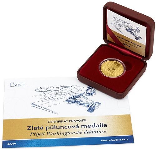 2018_Au_medaile_Washingtonska_deklarace_proof_etue