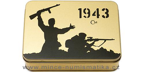 Sada čtyř zlatých mincí Válečný rok 1943