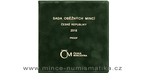 Sada oběžných mincí ČR 2018 - PROOF (semišový obal)