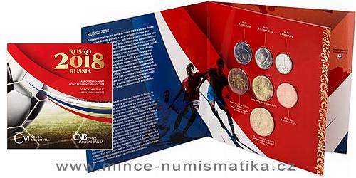 Sada oběžných mincí ČR 2018 - MS ve fotbale Rusko