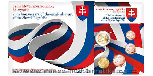 Sada oběžných mincí SR 2018 - 25. výročí Vznik Slovenskej republiky