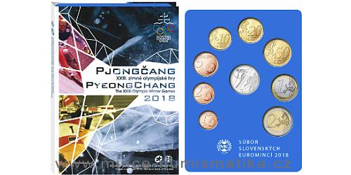 Sada oběžných mincí SR 2018 - XXIII. Zimné olympijské hry Pjongčang 2018 - PROOF like