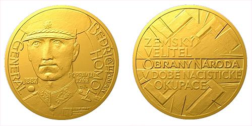 Zlatý dukát Národní hrdinové - Bedřich Homola