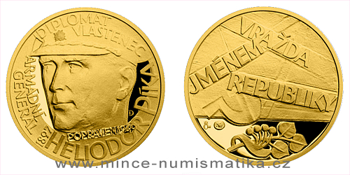 Zlatý dukát Národní hrdinové - Heliodor Píka