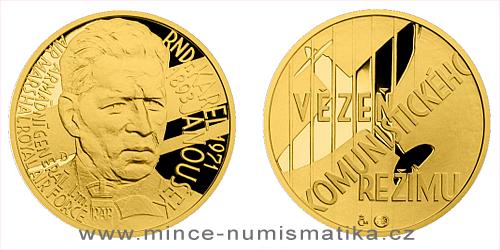 Zlatý dukát Národní hrdinové - Karel Janoušek