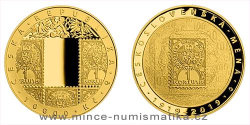 10000 Kč - 100. výročí - Zavedení československé měny (2019)